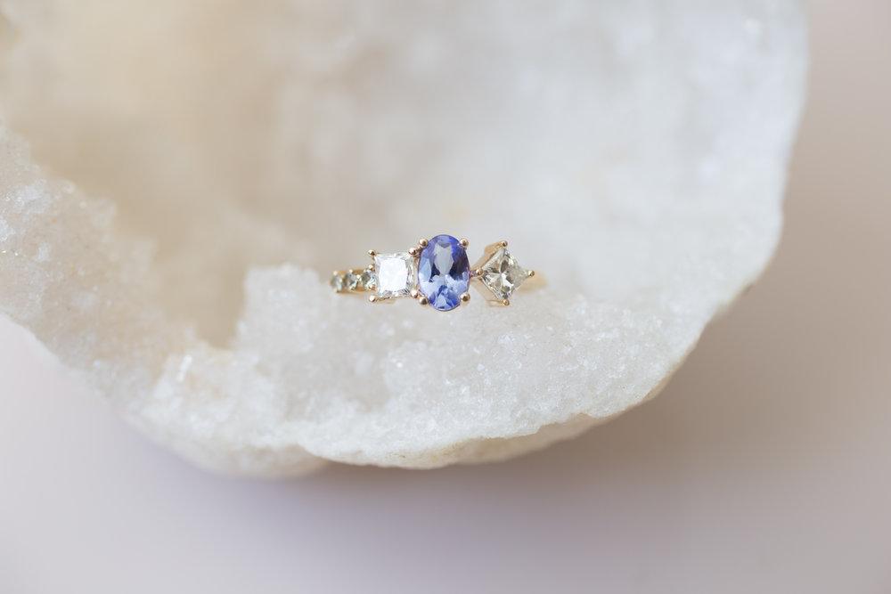 Kristina + Patrick Tanzanite Diamond Cluster Ring-4.jpg