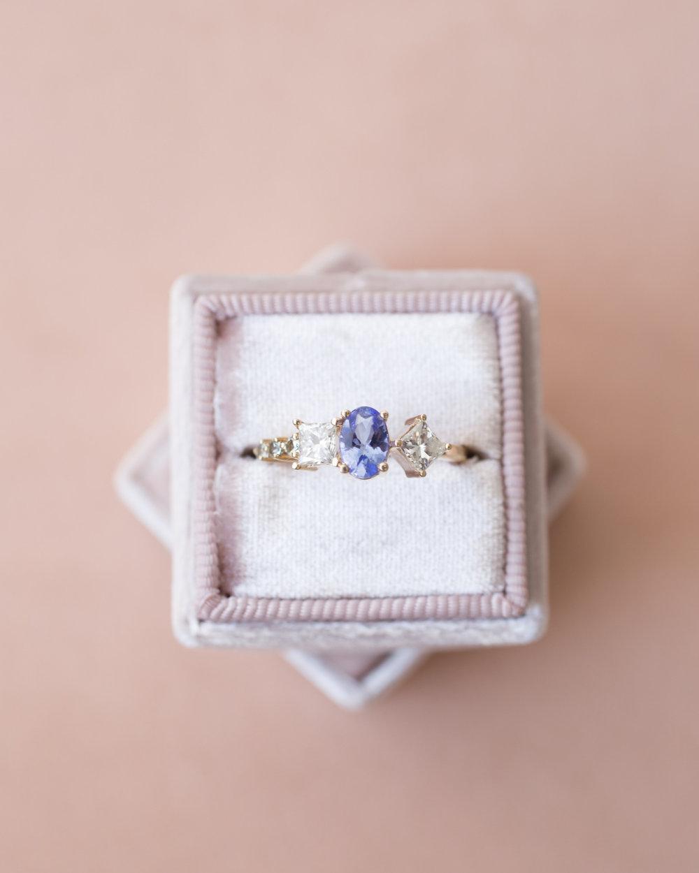 Kristina + Patrick Tanzanite Diamond Cluster Ring-instagram.jpg