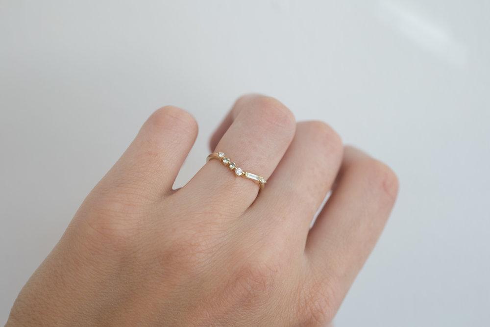 Michael + Rae Baguette Diamond, Round Diamonds +  Mint Sapphires Contour Wedding Band-8.jpg