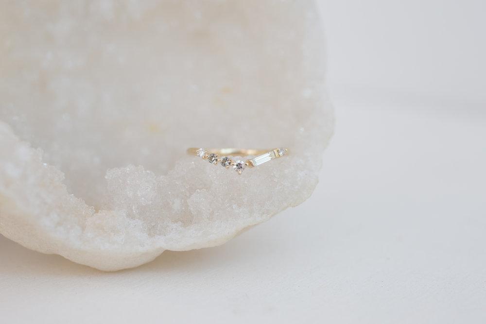 Michael + Rae Baguette Diamond, Round Diamonds +  Mint Sapphires Contour Wedding Band-4.jpg