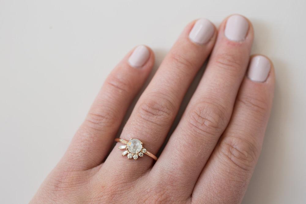 Peter J. Rustic Diamond Baguette Round Cluster Ring-8.jpg