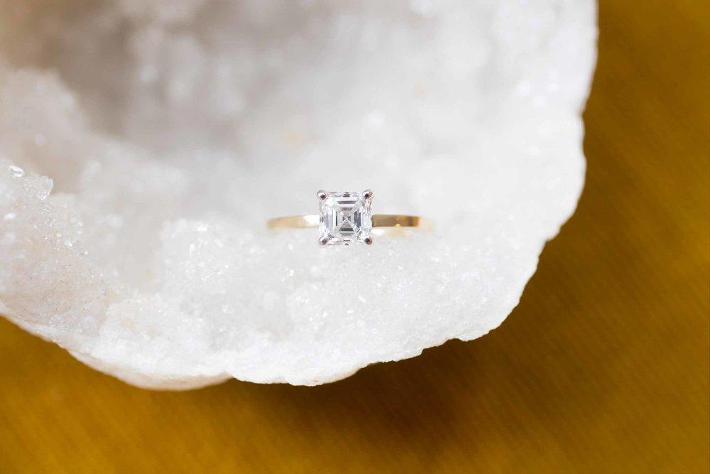 Hannah + Tom Asscher Diamond Solitaire-1.jpg