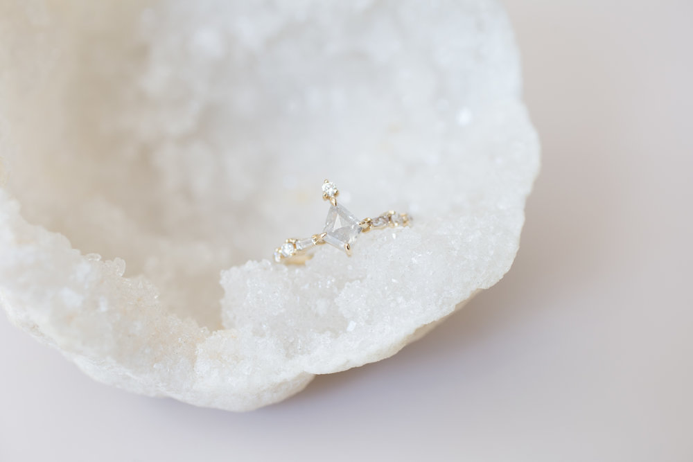 Chas + Claire Rustic Diamond Kite Cluster Ring-1.jpg