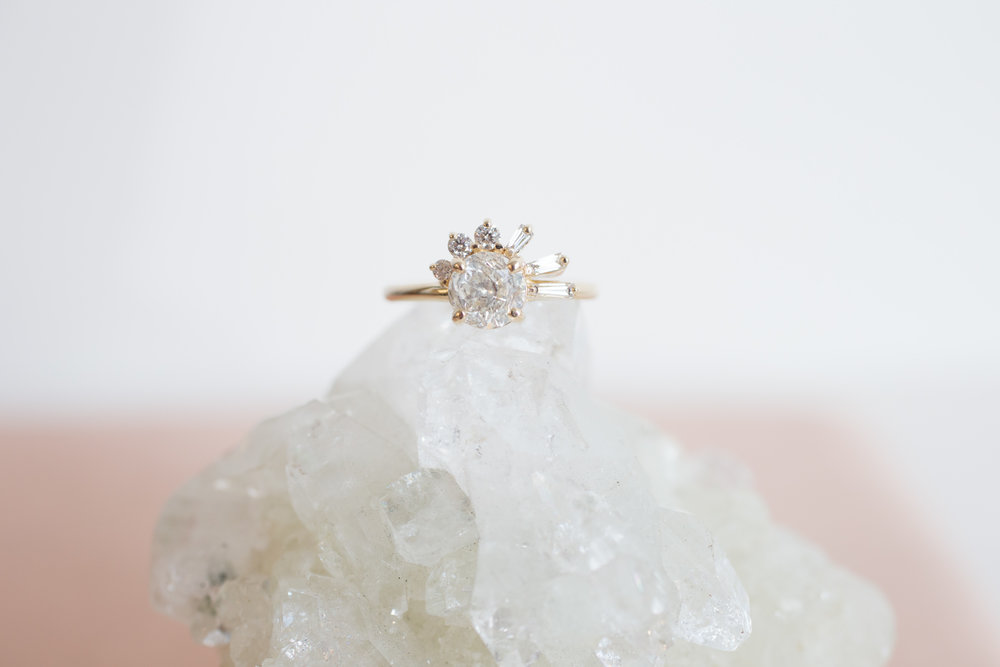 Brandi + John Heirloom Diamond Cluster Ring-9.jpg