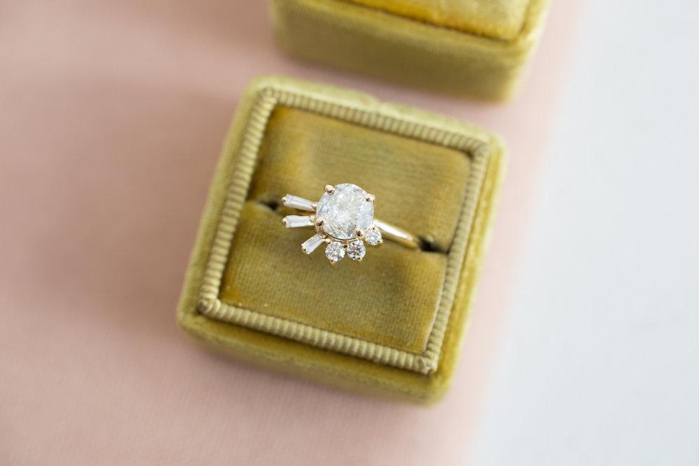 Brandi + John Heirloom Diamond Cluster Ring-6.jpg