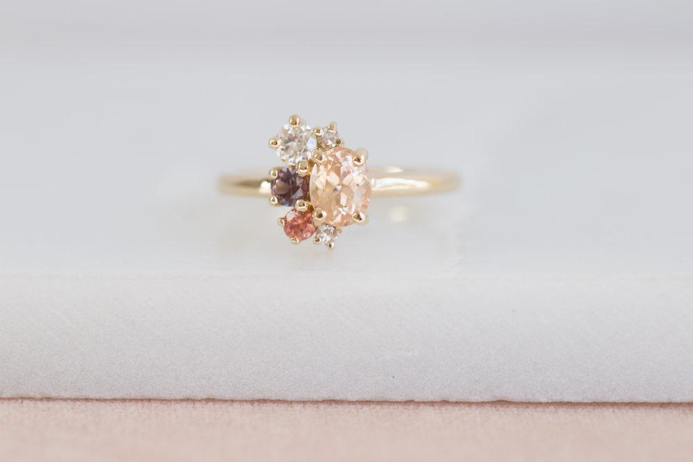 Amanda + Gerardo Sapphire Cluster Ring-3.jpg