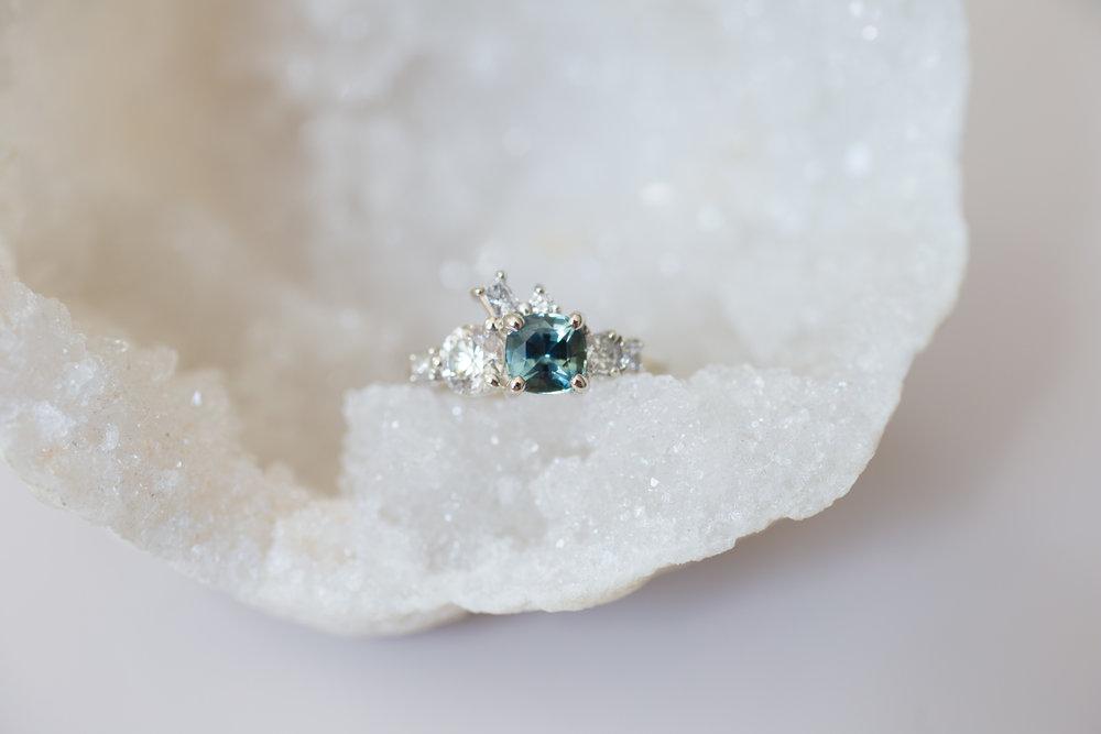 Brian + Abby Bi–color Sapphire + Heirloom Diamond Ring-1.jpg