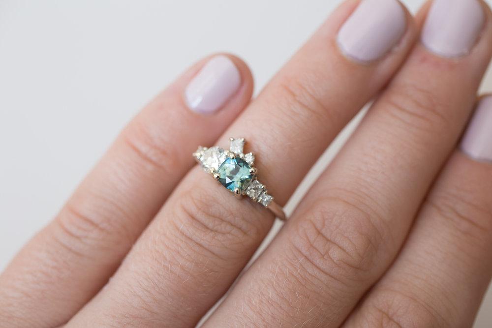 Brian + Abby Bi–color Sapphire + Heirloom Diamond Ring-5.jpg