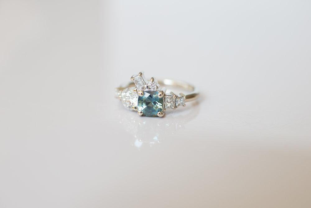 Brian + Abby Bi–color Sapphire + Heirloom Diamond Ring-6.jpg
