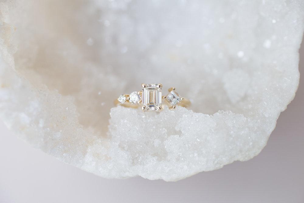 Sam + Danny Balogh Emerald Cut Diamond Line Cluster Ring-5.jpg