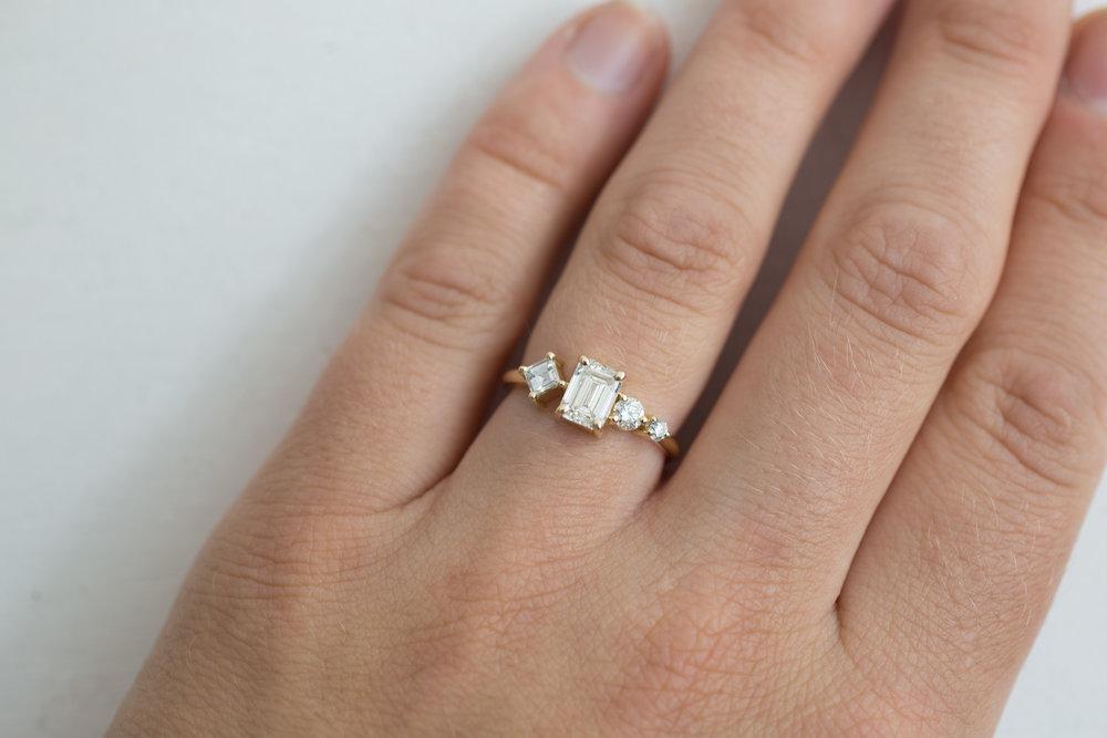Sam + Danny Balogh Emerald Cut Diamond Line Cluster Ring-15.jpg
