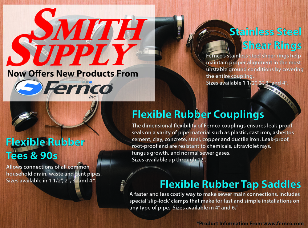 Installation Guides for a variety of materials: https://www.fernco.com/installation-instructions Literature: https://www.fernco.com/downloads Flexible Rubber Couplings: https://www.fernco.com/plumbing/flexible-couplings Be sure to ask one of our sales people for more information and what we have in stock.