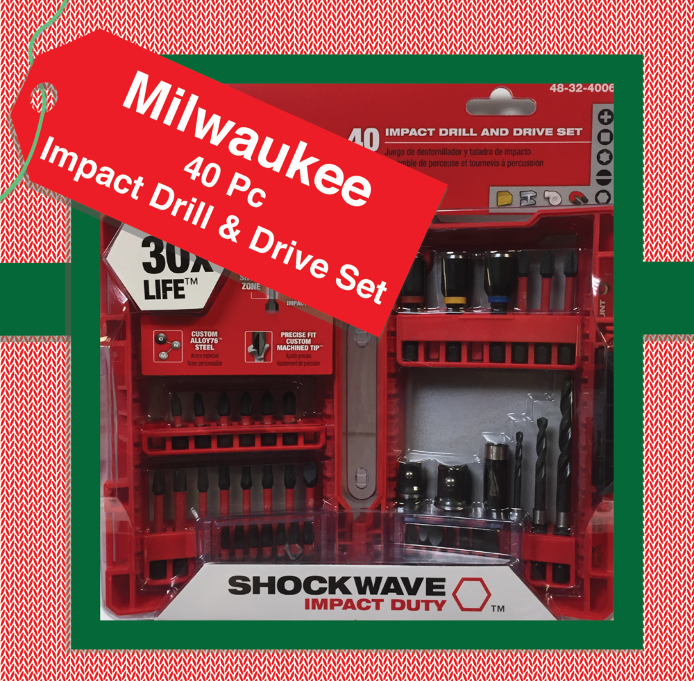 Milwaukee 40pc Impact Drill & Drive Set. Part Number: 48-32-4006