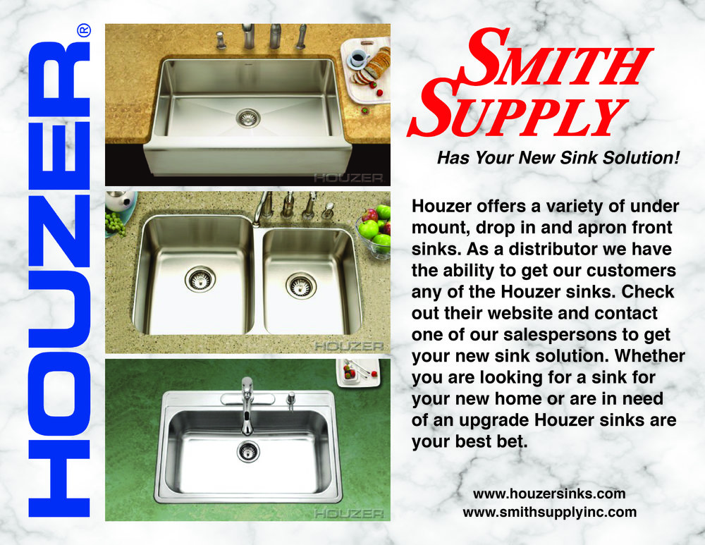 Did you guys know that we carry Houzer?! That is right, we are your sink SOLUTION with our partnership with Houzer. Contact a salesperson for more information and to get your order in.