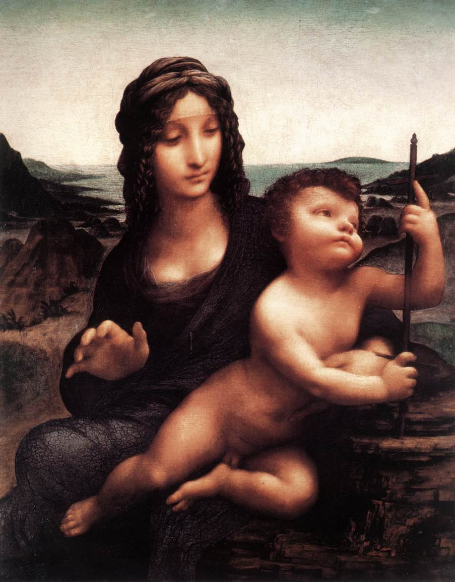 Madonna of the Yarnwinder, Duke of Buccleuch's Collection (attributed to Leonardo da Vinci and another artist)