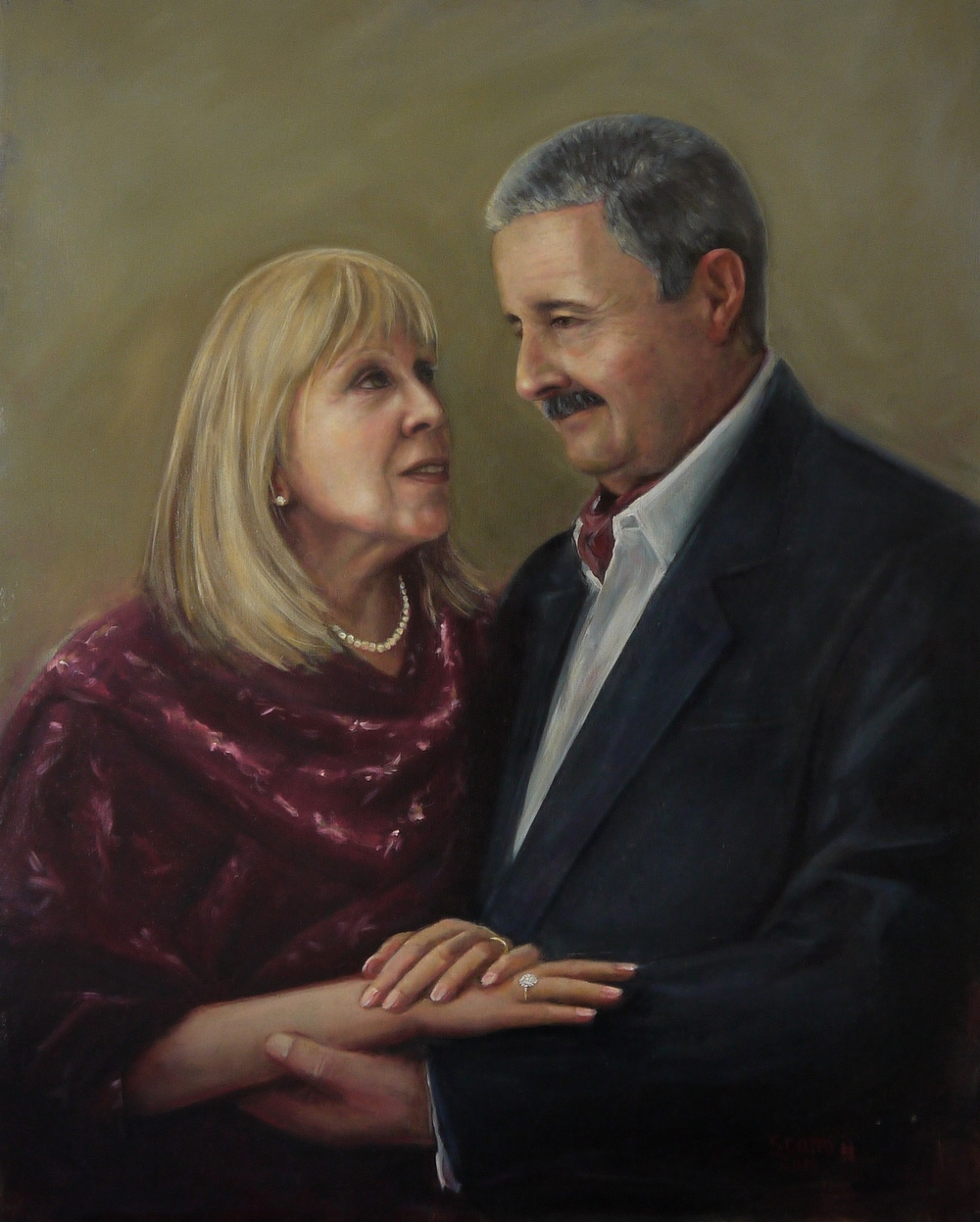 My mother and father, Oil on board (23 x 33 in - 63 x 83 cm)