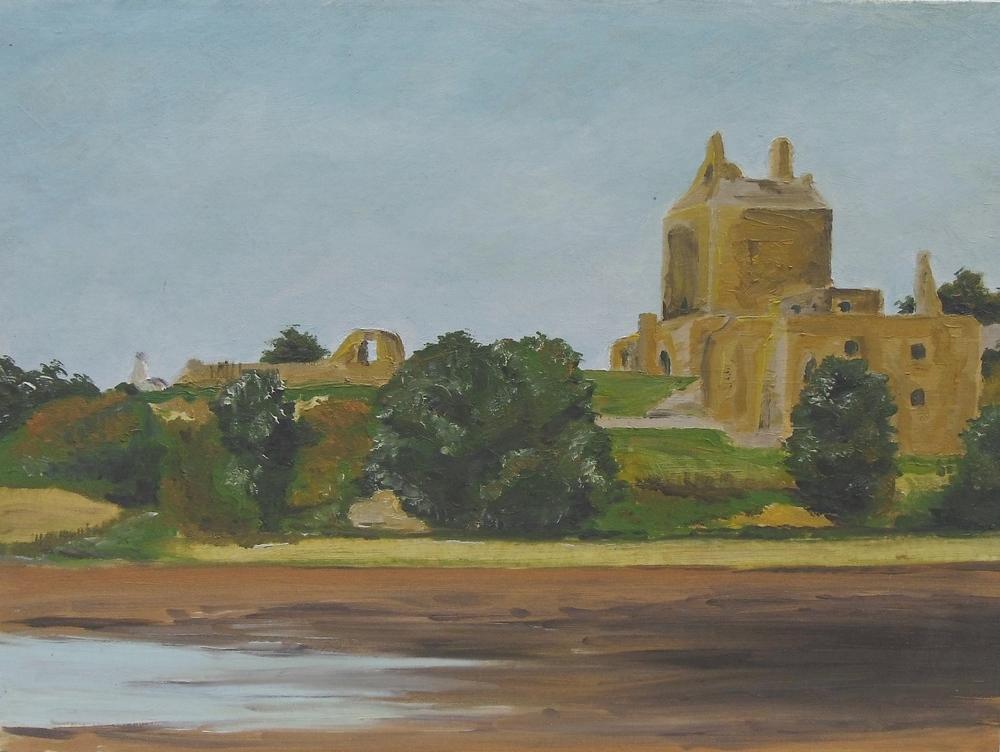 Ravenscraig Castle, Kirkcaldy (Oil on canvas board)