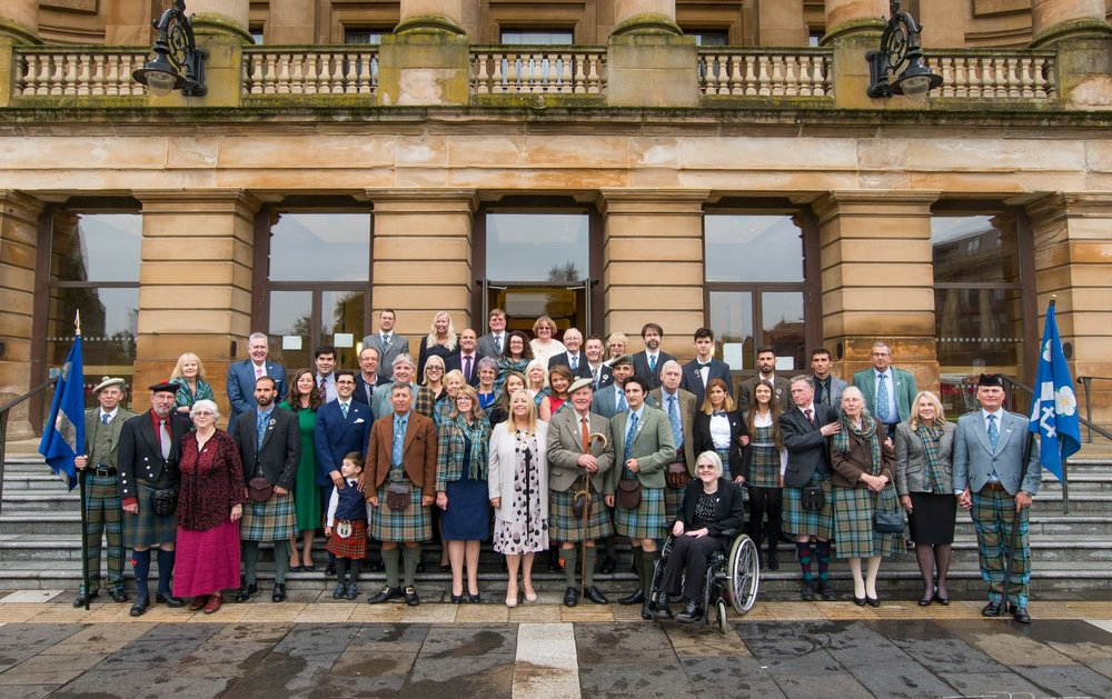 Clan Paisley and guests at Paisley Town Hall