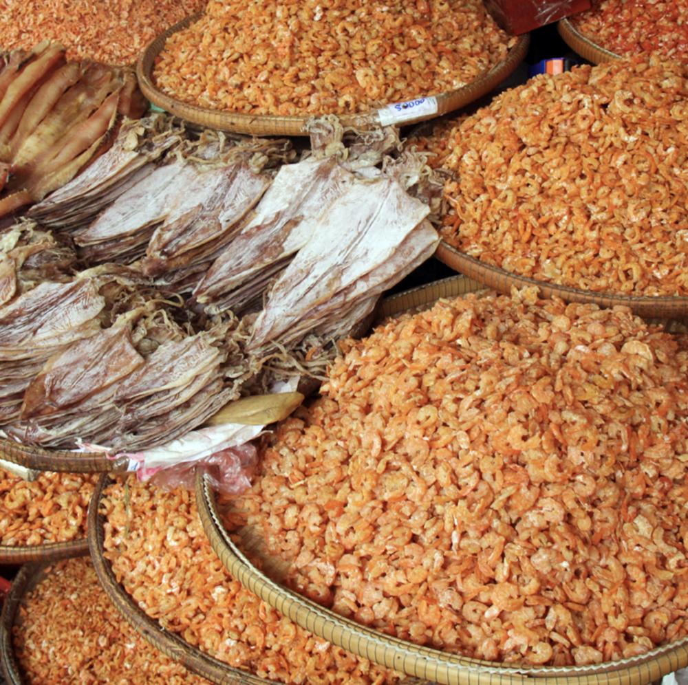 Dried Squid, Shrimp, Vietnam