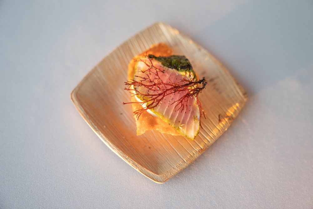 Green Tea-cured Opah top loin sashimi by Anthony Pascale of Saiko Sushi