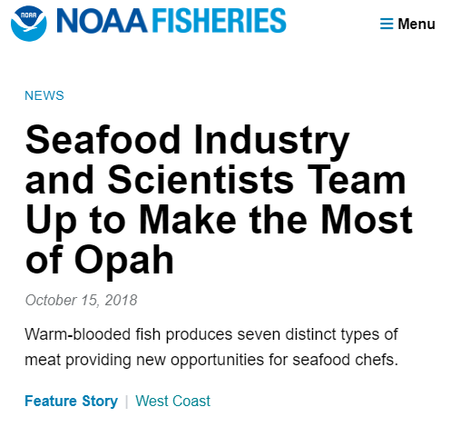 NOAA Fisheries News: Opah Utilization