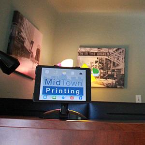 MidTown Printing reception computer