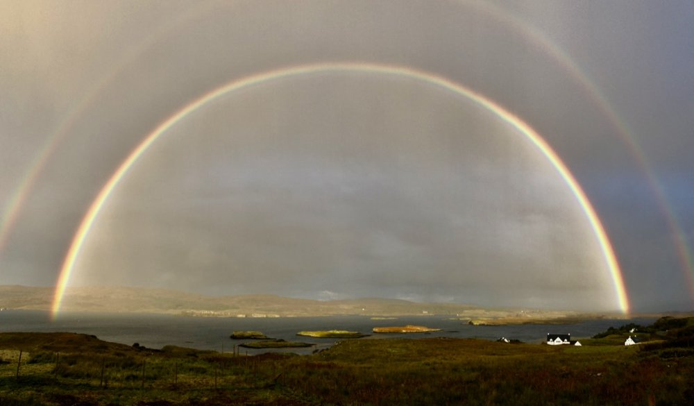 "© 2018 Mark Maio ""Double Rainbow, Waterish Peninsula, Isle of Skye, Scotland"""