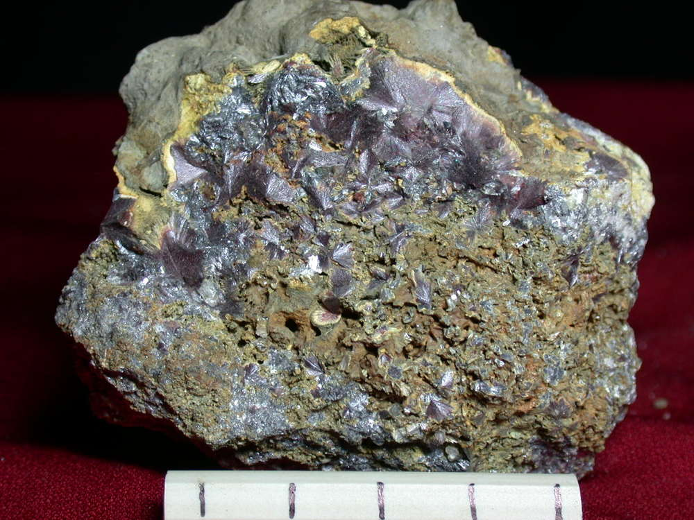 Kermesite - Lac Nicolet Antimony Mine, Wolfe Co, Que.