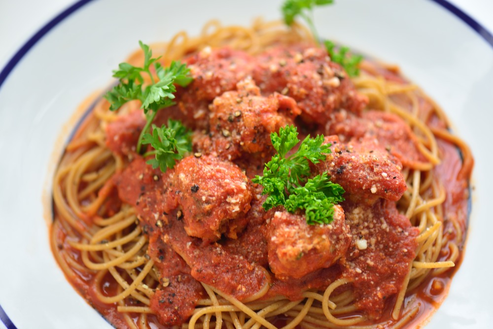 Spaghetti with Sausage and Parsley