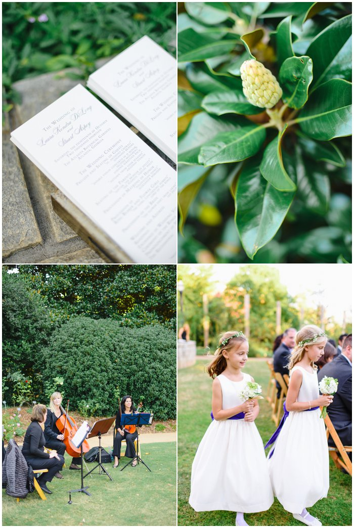 Laura Stuart Atlanta Botanical Garden Wedding Rustic White