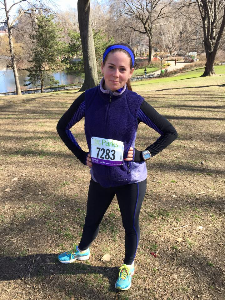 Alexandra Janelli Photo after a 5k in New York City Central Park
