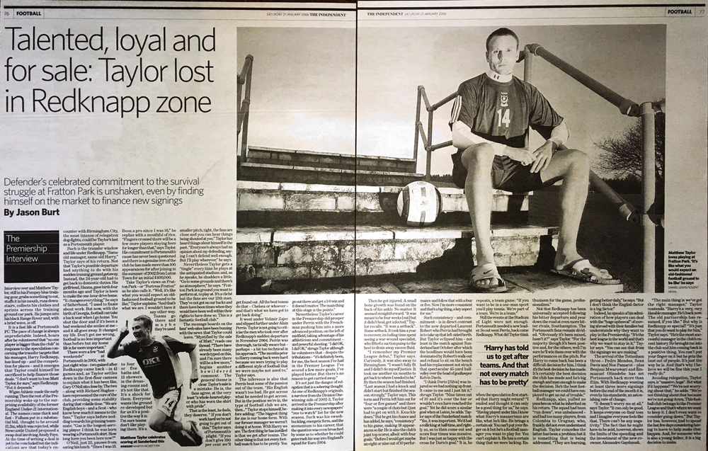 My portrait of Matt Taylor in the Indy on Sunday, in 2006