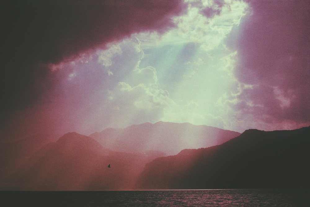 Sun beams over Lake Garda - June 2015