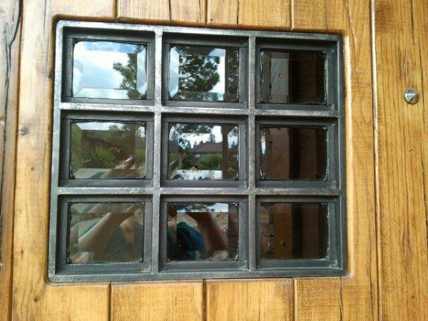 Custom Steel Window Frame  collaboration with Iron West, Bend, Oregon