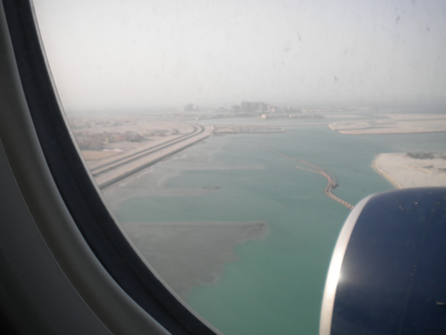 Just before landing in Manama, Bahrain.