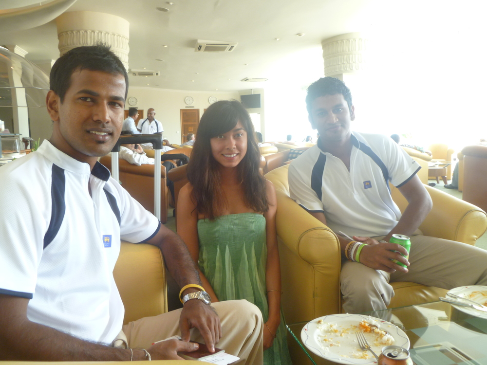 Nuwan Kulasekara and Dimuth Karunaratne of the 2011 Sri Lankan national cricket team. It took a while to scroll through the roster and identify their names, not because they all look alike, but because they are all the same skin color with similar hairstyles.