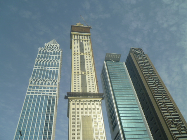 I adore these four right next to each other, across the street from the Towers Rotana.