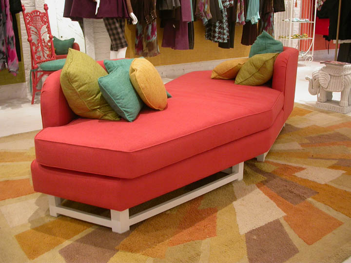 Angular Sofa designed for a boutique in the Meatpacking District in NYC while being part of the design team at Jonathan Adler.