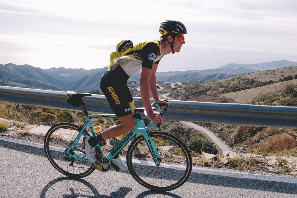 La Rabita Haza del Lino climb, lotto jumbo, Pascal Eenkhoorn