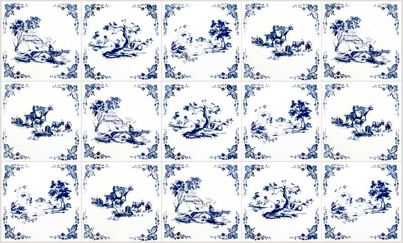 toile de jouy tiles by textiles. Black Bedroom Furniture Sets. Home Design Ideas