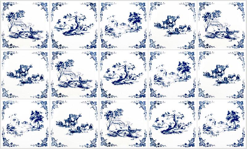 toile de jouy tiles by textiles. Black Bedroom Furniture Sets. Home Design Ideas