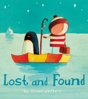 Lost and Foundby Oliver Jeffers. Sometimes we rescue others and sometimes they rescue us.