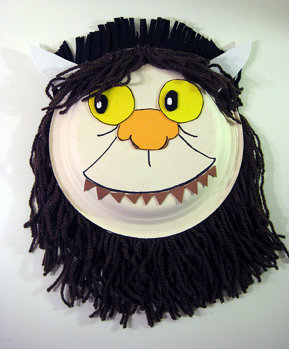 There's an impressive and simple 'wild thing' mask tutorial from  Spins & Needles .