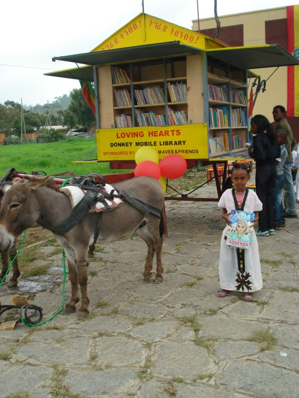 Donkey Library in Ethiopia