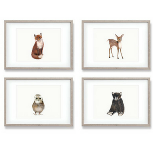 Copy of 4 WOODLAND ANIMAL PRINTS AU$51