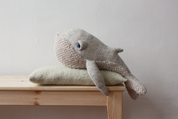 HAND-MADE WHALE FOR LITTLE (and not so little!) ONES TO CUDDLE AU$128.36