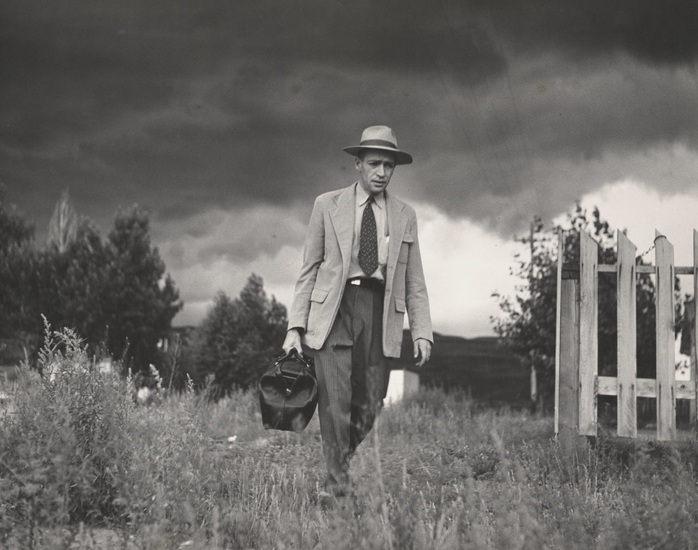 Smith W Eugeune Dr Ceriani Going from House to Hospital Country Doctor 1948 C The Heirs of W Eugene Smith courtesy Black Star.jpg