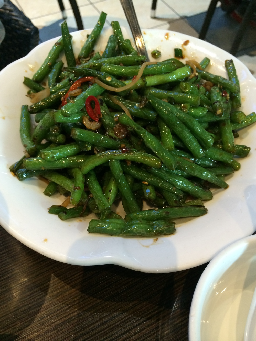 Green beans - spicy style, with mini dried shrimp