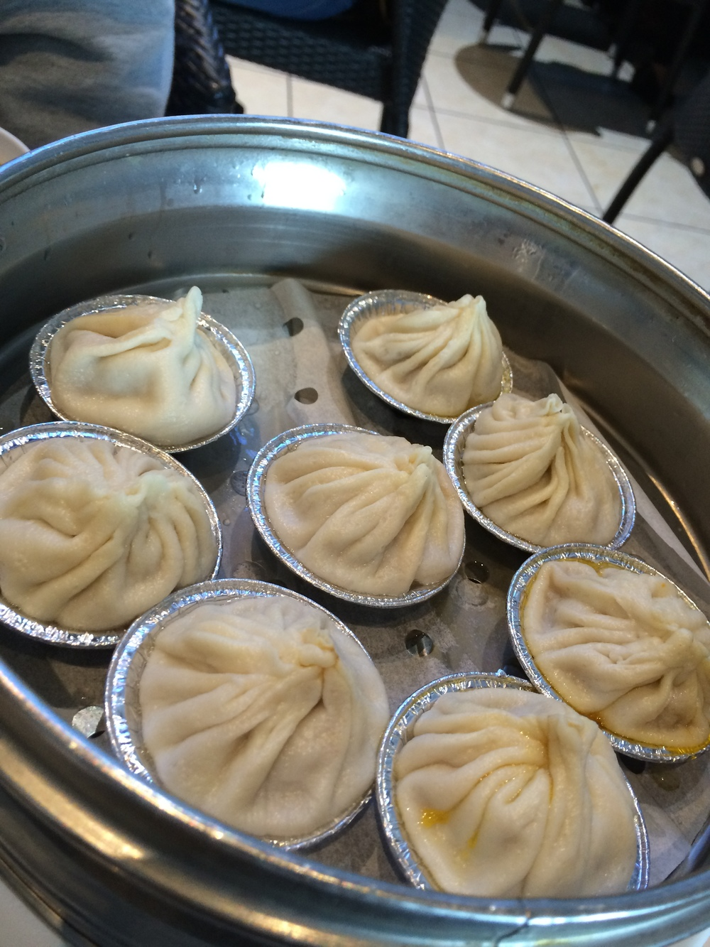 Pork and crab soup dumplings.  Very excellent.