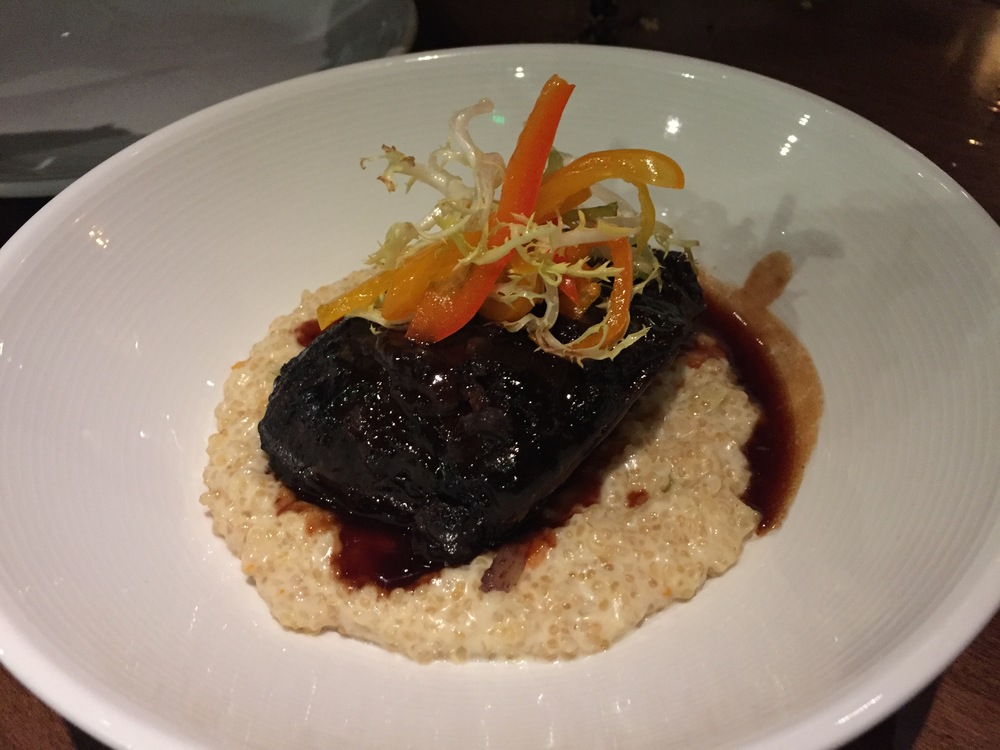 Braised Beef Cheeks with mushroom quinoa